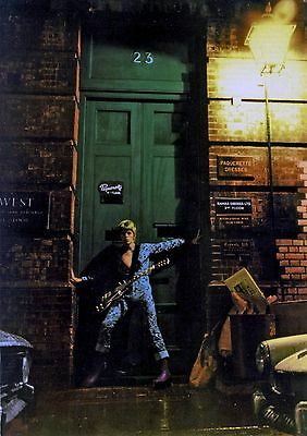 BOWIE ZIGGY STARDUST MINI LAMINATED A4  POSTER HEDDON STREET style 7