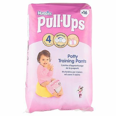 Huggies Pull-Ups for Girls Size 4 Small 8-15kg (16)