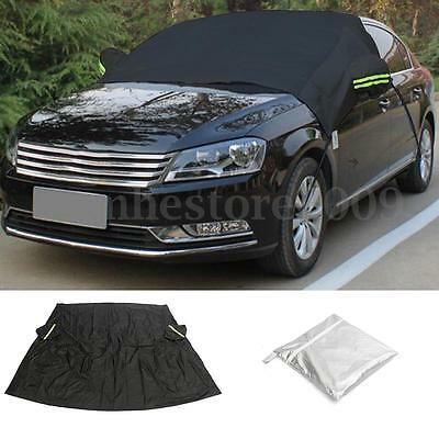 Car Front Windshield Windscreen Cover Snow Ice Sun Dust Winter Protector Black
