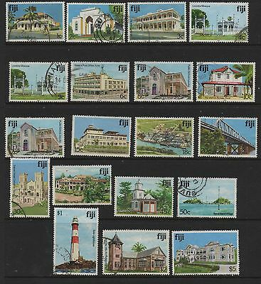 Fiji 1979 Architecture definitives SG580A-726 fine used set 19 stamps