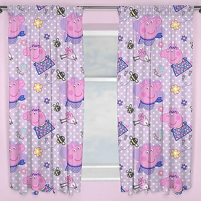 "PEPPA PIG HAPPY 66"" x 54"" CURTAINS NEW BEDROOM"