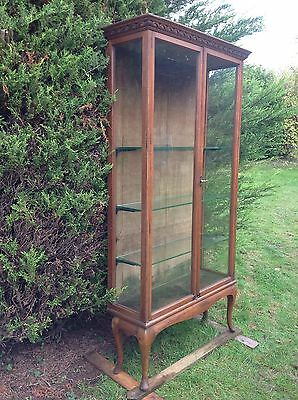 Beautiful Large Quality Antique Display Cabinet With Adjustable Glass Shelves