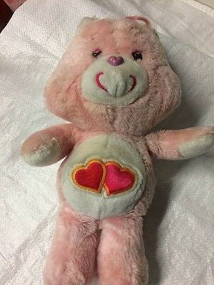 Care Bears- Vintage Care Bear Love-a-lot Bear Pink Coloured Bear- Collectable