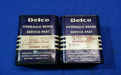 NOS Delco Wheel Cylinders GM 5450400 5450401 Oldsmobile 1949 - 1953 + others 404