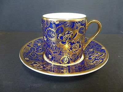 Minton Coffee Cup And Saucer Extremely Rare Blue/gold