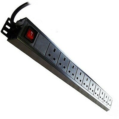 LMS Data 10-Way 1U 19-inch  Vertical  Rackmount 13A Switched PDU