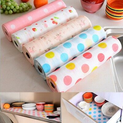 3 / 5M Kitchen Table Drawer Shelf Liner Contact Paper Waterproof Mat Pad No Slid