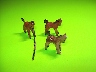Vintage ANRI Handcarved Wood FIgural Horses Made In Italy Set of (3) Figurines