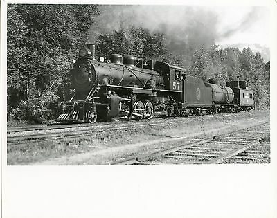 JJ747 RP 1946/70s? PACIFIC GREAT EASTERN RAILROAD ENGINE #57 SQUAMISH BC