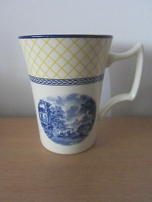 Spode Blue Italian Giallo Mug - New With Label Attached
