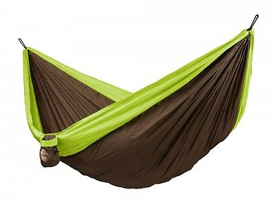New La Siesta Double Travel Hammock With Integrated Suspension Colibri Green