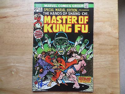 1973 Special Marvel Edition # 15, Master Of Kung Fu Signed By Jim Starlin, Poa