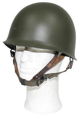 US Army M1 Military Steel Helmet Stahlhelm Helm oliv od green  great reenactment
