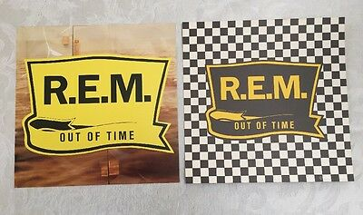 REM Out Of Time 2 Sided Record Store Promo Poster NEAR MINT