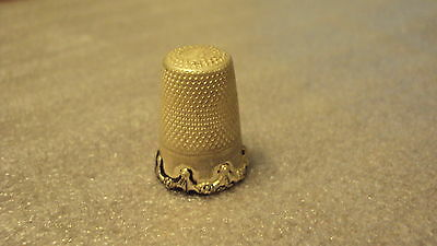 Antique 925 Sterling Silver Thimble
