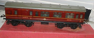 HORNBY SERIES O GAUGE No 2 PASSENGER BRAKE COACH LMS BOXED WITH CONNECTOR