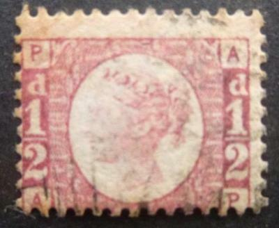Q.V. 1/2d (Plate 11.) stamp - used.
