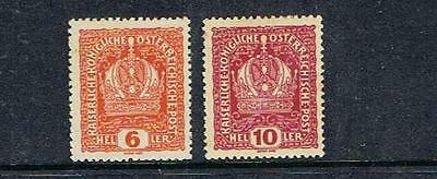 STAMPS  AUSTRIA 1916 - 18  Defiinitive  6h & 10h ( MINT-HINGED )  A163