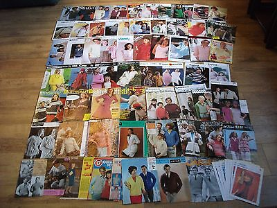 Vintage Huge Lot, Knitting Patterns, Ladies & Mens mainly, from 60's.70's 80's