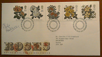 1991 Signed Royal Mail Fdc - World Rose Congress - Signed By Philip Harkness