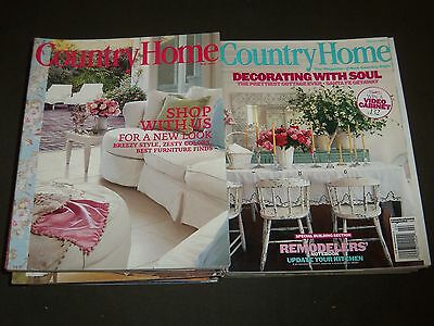 2001-2008 Country Home Magazines Lot Of 25 - Nice Covers & Photos - R 92
