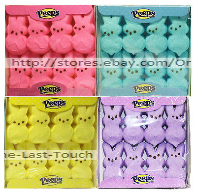 PEEPS 8pc Mini Pack MARSHMALLOW CANDY Gluten-Free BUNNIES Exp.4/18+ *YOU CHOOSE*