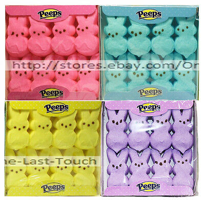PEEPS^8pc Mini Pack MARSHMALLOW CANDY Gluten-Free BUNNIES Exp.4/18+ *YOU CHOOSE*