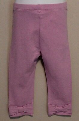 GIRLS 12-18 months BABY GAP purple cotton knit pants with bow NWT