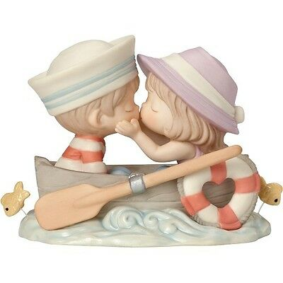 New PRECIOUS MOMENTS Figurine YOU'RE THE ONLY FISH IN MY SEA Porcelain Statue