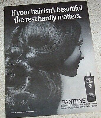 1973 vintage ad - Pantene Hair products girl Advertising Print magazine page