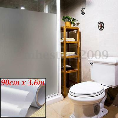 """36""""x12FT Frosted Window Glass Decor Privacy PVC Film DIY Home Bathroom Office"""