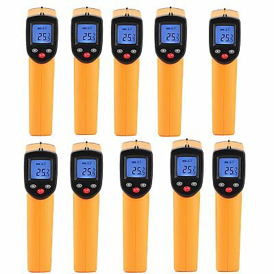 4/10pc Handheld Digital Thermometer LCD Temperature IR Laser Infrared Industrial