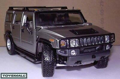 Large Silver Hummer H2 Showroom Model 4X4 Usa Full Size Suv New Limited Edition