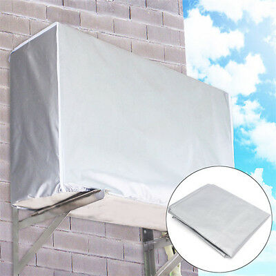 Outdoor Air Conditioner Waterproof Sunscreen Dustproof Sliver Cover Protector