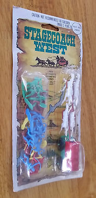 Stagecoach Wild West play toy set Vintage 1970's Western cowboy toys Hong Kong