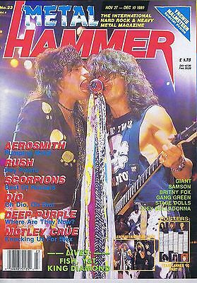 AEROSMITH Metal Hammer + GIANT AEROSMITH POSTER Nov 27 1989