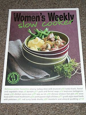 Women's Weekly Slow Cooker Cook Book New