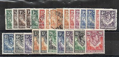 Northern Rhodesia 1938-52 set to 20s MH and used
