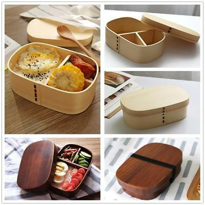Lunch Box Business School Bento Wood Food Container Picnic Meal Box Travel Gift