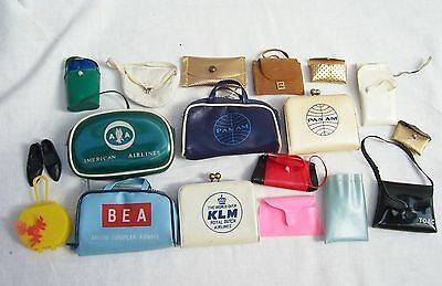 Job Lot Of Bags For Barbie Sindy Doll's - Airline Bags BEA Pan Am Handbags Etc