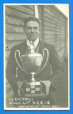 CPL.COTTERELL.WINNER 43rd N.C.C.I.C.DONCASTER 8th MARCH 1924.REAL PHOTO POSTCARD