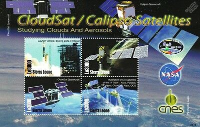 Earth Observation Satellites: CloudSat & Calipso Spacecraft Space Stamp Sheet