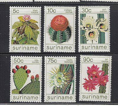 Suriname 1985 Cactus Sc 697-702 complete mint never hinged