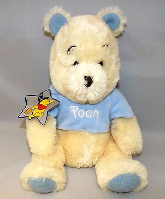 Soft Cream & Blue  Baby Winnie The Pooh With Tag Child's Baby's Soft Toy 16J