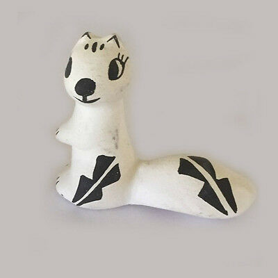 Otter Figurine Hand Painted Acoma Pueblo Pottery Signed S. Chino