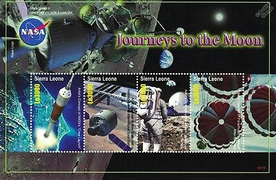 Future Journeys to the Moon Spacecraft Space Stamp Sheet / 2006 Sierra Leone
