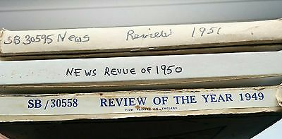 1949 1950 1951 Vintage 9.5mm News Reel Film REVIEW OF THE YEAR