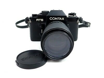 Appareil Photo Argentique Contax Rts I + Objectif Carl Zeiss Sonnar F/2.8 135 Mm