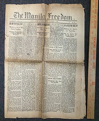 1899 Manila Freedom Newspaper Philippine American War Rebel Articles Whisky Ads