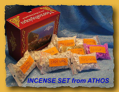 FREE SHIPPING Greek Aromatic INCENSE SET 8 bags Holy Mount Athos Orthodox Church
